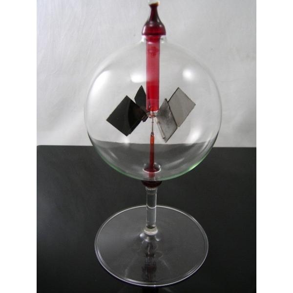 Lichtmühle - Radiometer - stehend rot