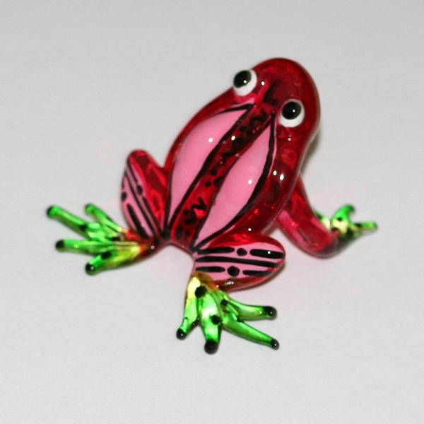 Frosch - Frog -Glasfigur-Glastier-T-04-rot
