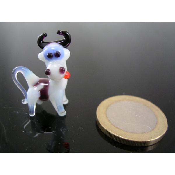 Kuh mini weiß -Glasfigur-Glasminiatur-k-5