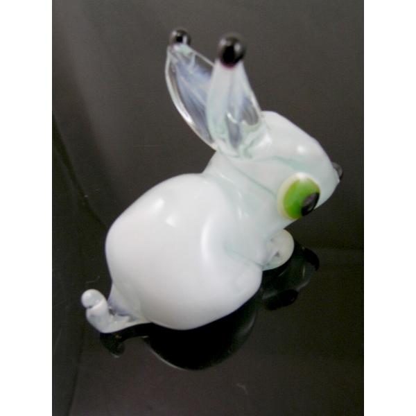 Hase Weiß - Figur aus Glas weißes Kaninchen - Glasfigur Vitrine
