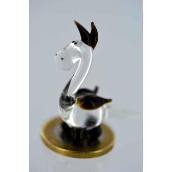 Drache mini schwarz -Glasfigur-Glasminiatur-k-5