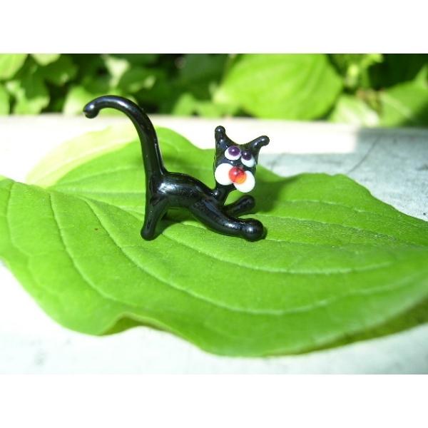 Katze schwarz Mini - schwarzer Kater - BM1-1