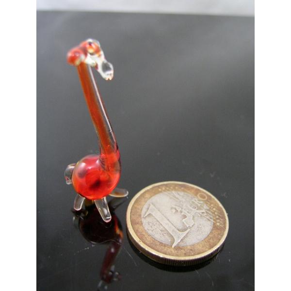 Giraffe mini -Glasfigur-Glastier-k-2-rot