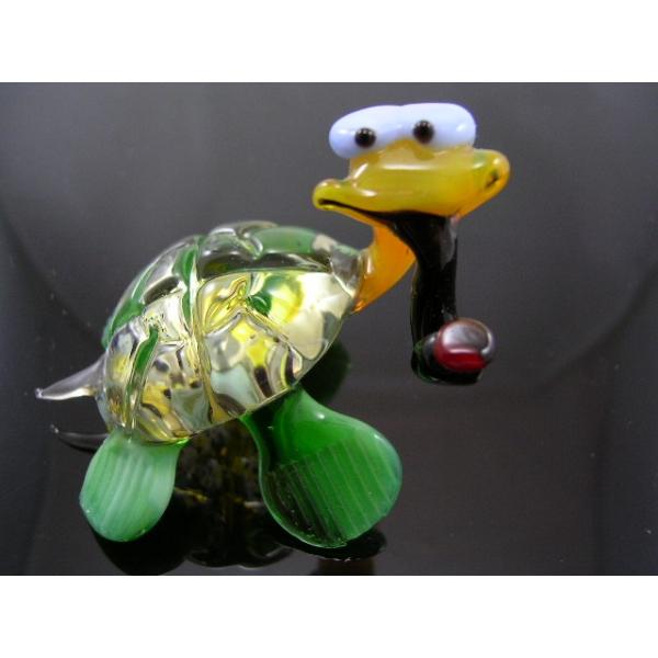 Schildkröte mit Pfeife 1 - Glastier