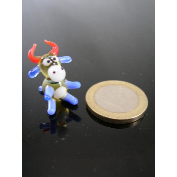 Kuh mini bunt -Glasfigur-Glasminiatur-k-5