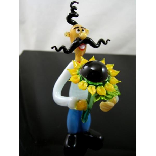 Kosake mit Sonnenblume - Glastier-b9-3-10