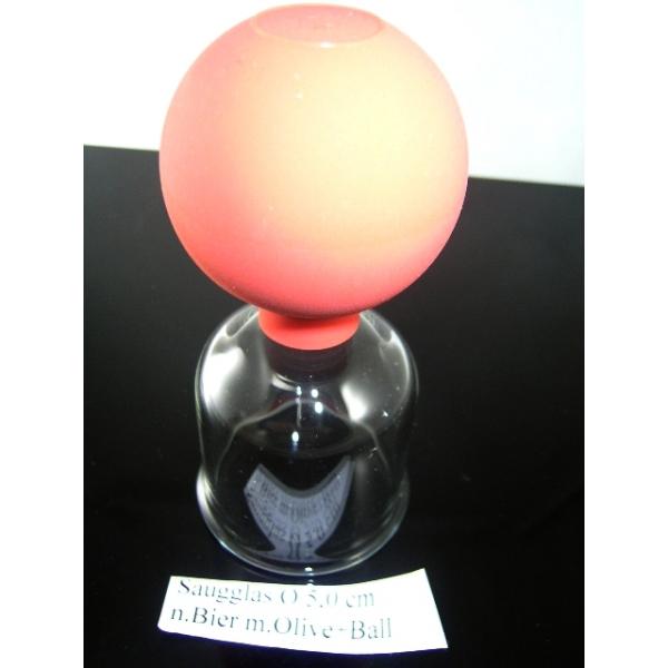 Saugglas mit Olive und Ball nach Bier-5,00 cm