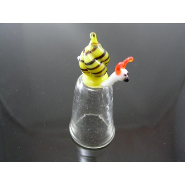 Fingerhut aus Glas-Schnecke