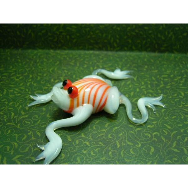 Frosch weiß - Glastier