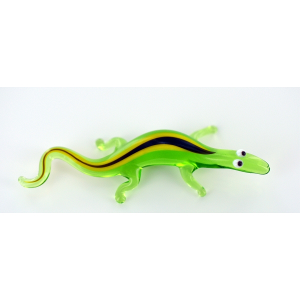 Gecko - Salamander Grün Glasfigur Miniatur - Glastier
