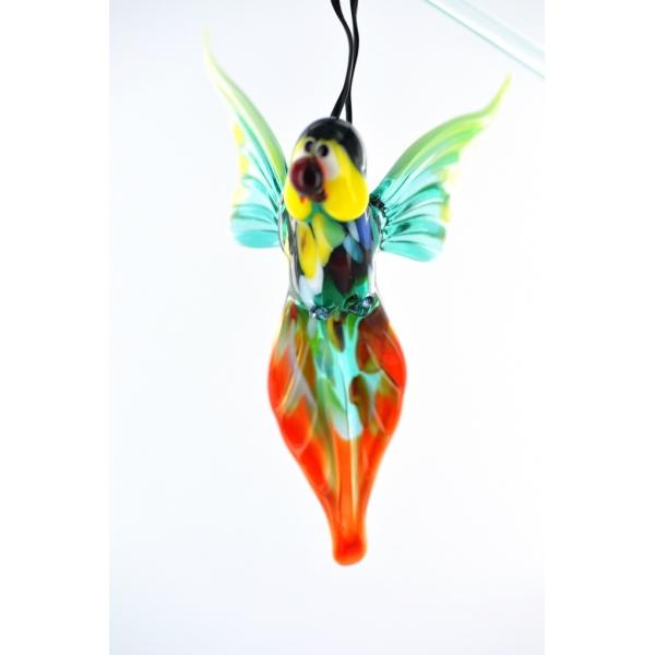 Papagei hängend 1-Glasfigur