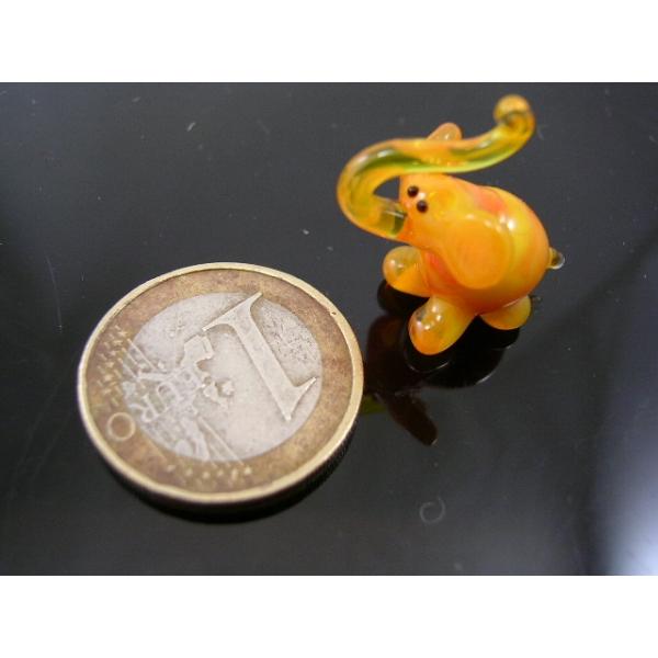 Elefant mini orange-Glasfigur-Glastier-k-2
