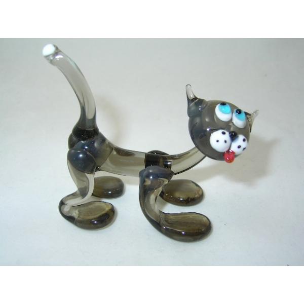 Katze grau 1-13 - Glastier