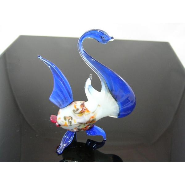 Fisch 7 blau - Glastier