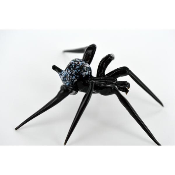 Spinne - Glasfigur 10 x 10 x 4 cm -Glastier