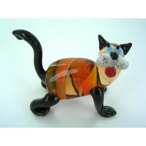 Katze-Katzen-Cat-Glasfigur-Glasfiguren