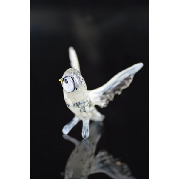 Eule Figur aus Glas - Schneeeule Glasfigur - Vogel Schnee Eule 3