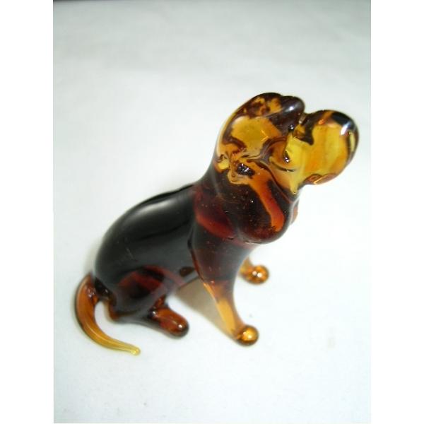 Hund-Dog-Bluthund-Bloodhound glasfigur-20-2