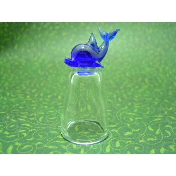 Fingerhut aus Glas-delfin