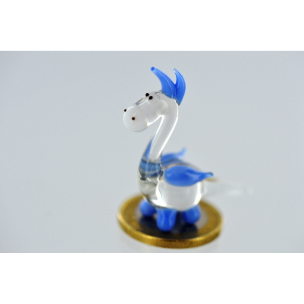 Drache mini blau-Glasfigur-Glasminiatur-k-5