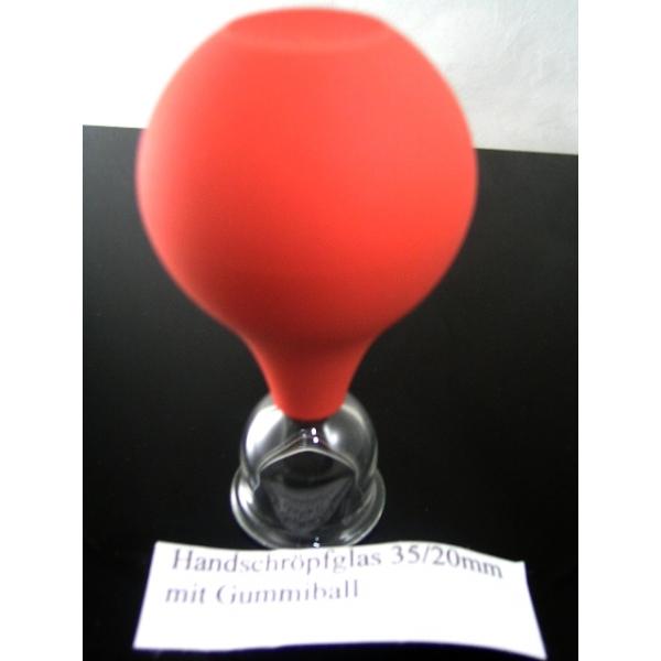 Handschröpfglas mit Gummiball-35mm/20mm-Schröpfgläser