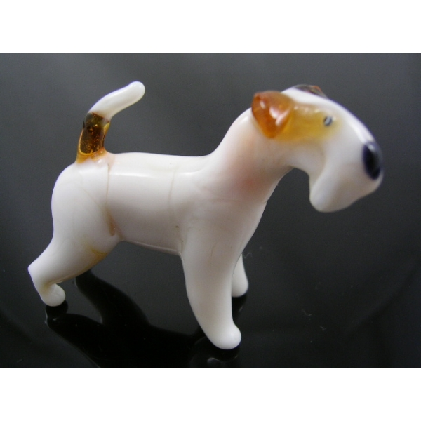 Hund-dog-Fox Terrier Glasfigur-48-15