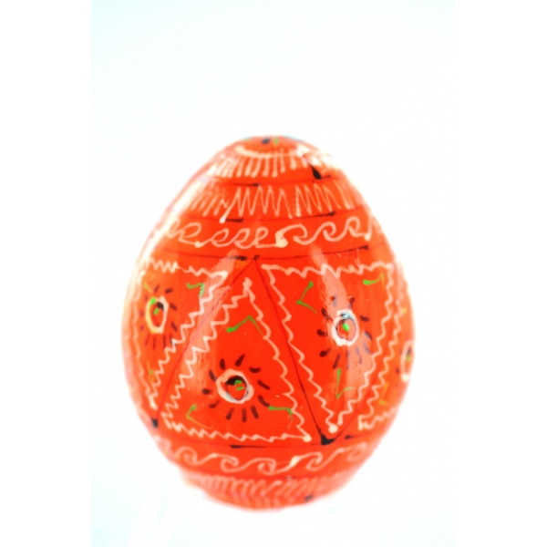 Osterei aus Holz - Pysanka - orange-S5