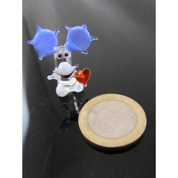 Elch mit Herz 3 mini-Glasfigur-Glastier-Glasfiguren-k-8