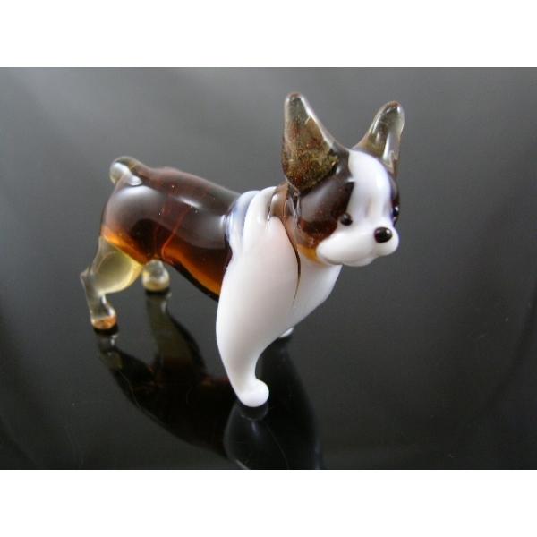 Französishe Bulldogge-Hund-Glasfigur-b8-4-11
