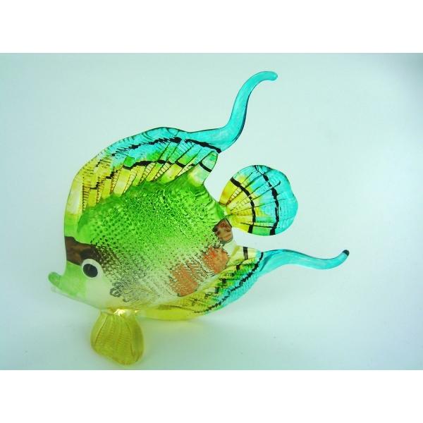 Fisch-Bunter Glasfisch-Glasfigur-Glastier-T-112-Gro