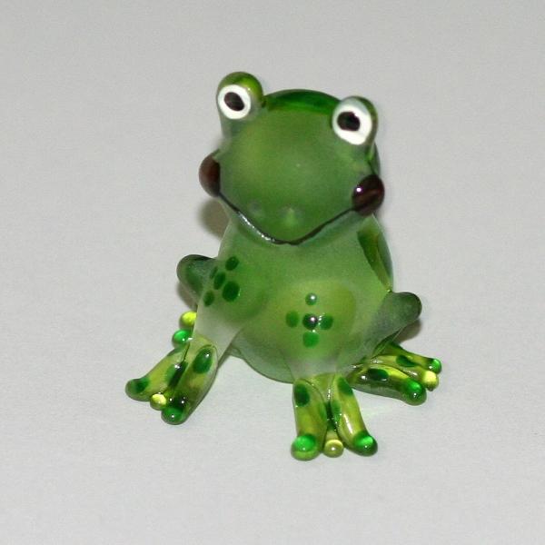 Frosch - Frog -Glasfigur-Glastier-T-Leicht gr