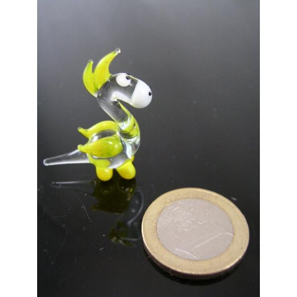 Drache mini gelb -Glasfigur-Glasminiatur-k-5