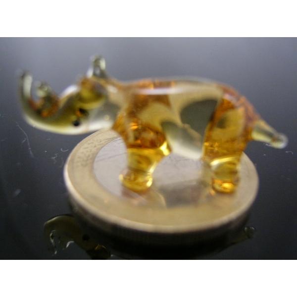 Naßhorn gelb mini-Glasfigur-Glasminiatur-k-5
