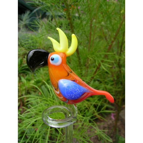 Papagei orange-Orchideenstab -Blumenstab