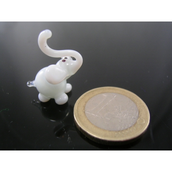 Elefant mini weiß 2-Glastier