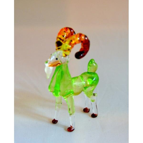 Ziege - Figur aus Glas Grün