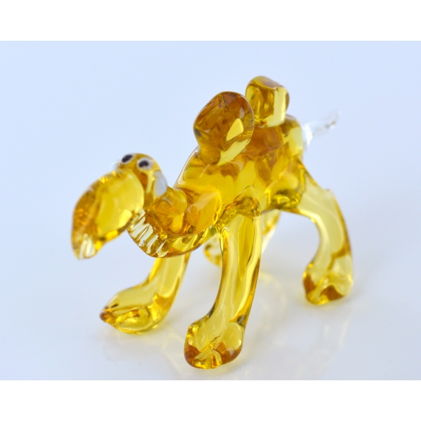 Kamel Gelb - Sonnengelbe Glasfigur - Glastier