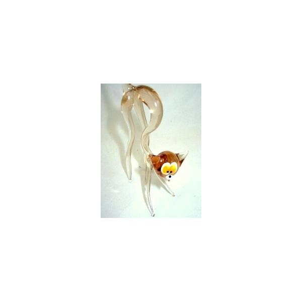 Katze-Glasfigur-Glastier-y-17,gelb 3