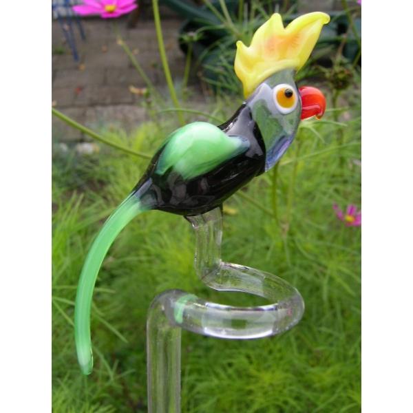 Papagei schwarz-Orchideenstab-Blumenstab-u-4