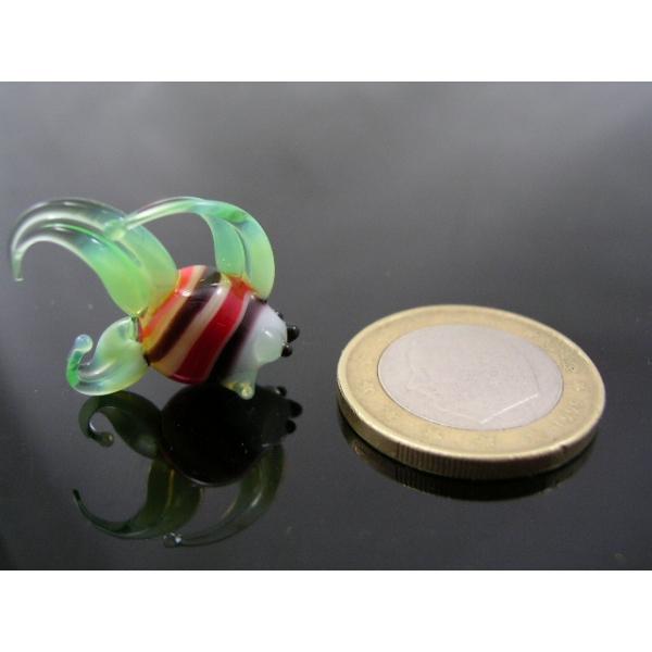 Fisch mini -Glasfigur-Glastier k-1-grün-weiß