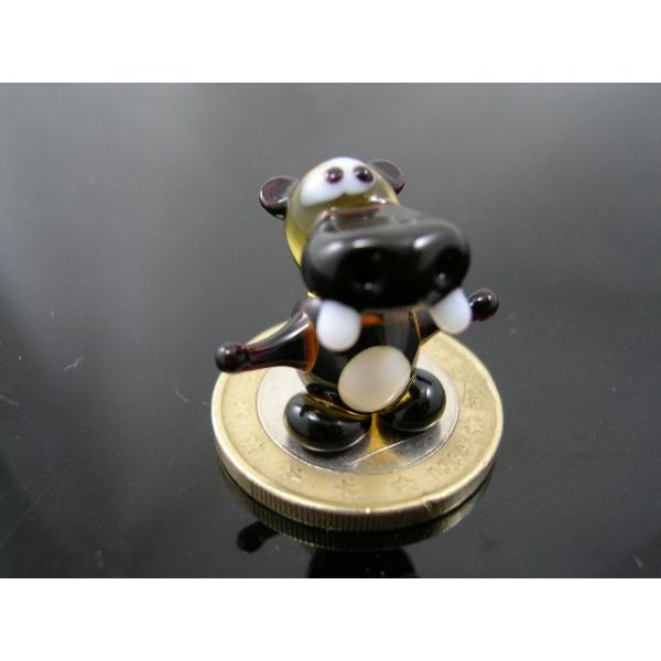 Flusspferd-Nilpferd mini-Glasfigur-k-1 gelb-schwarz