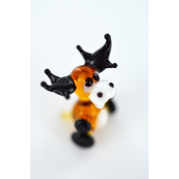 Sitting Elk, Miniature, Glas Figurine