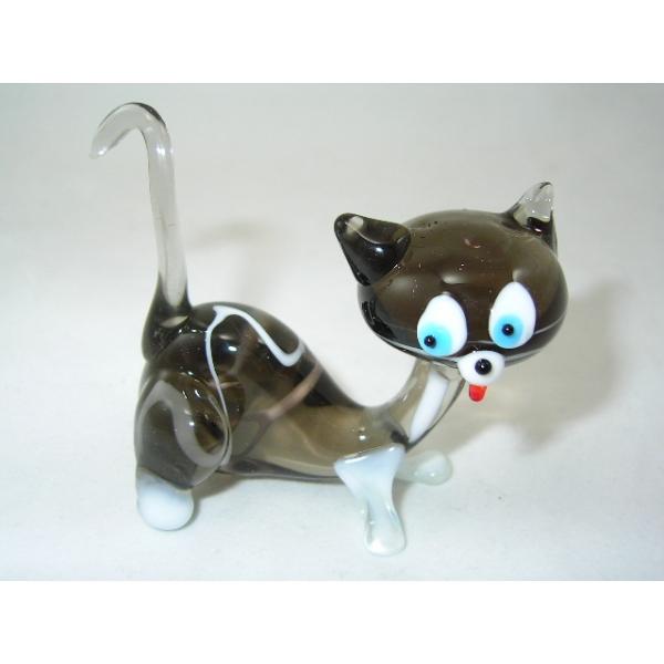 Katze-grau-Cat-5-13 - Glastier