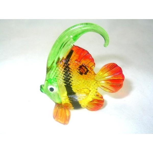 Bunter Glasfisch - Glasfigur- Glastier - (y1-17)