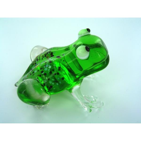 Frosch 11 - Frog -Glasfigur-Glastier