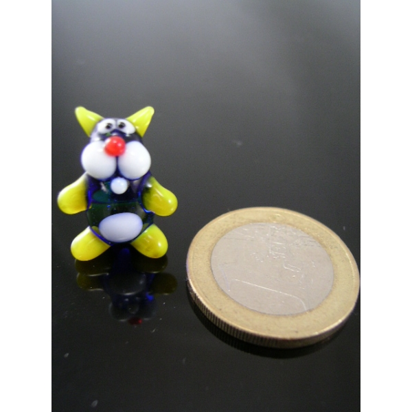 Katze mini gelb -Glasfigur -k-7