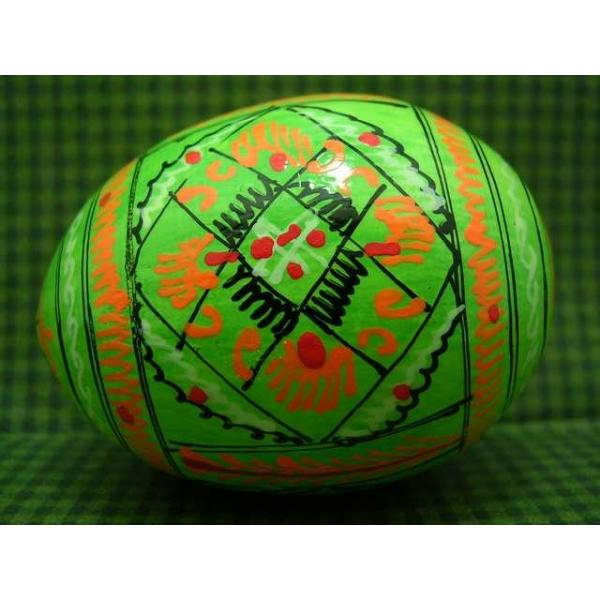 Osterei-Pysanka-aus Holz-farbe grün 1