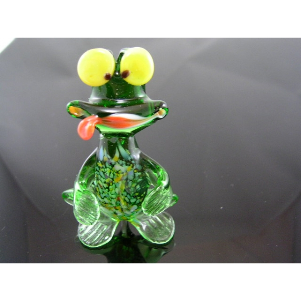 Frosch-Frog glasfigur,glass animal-9 - Glastier