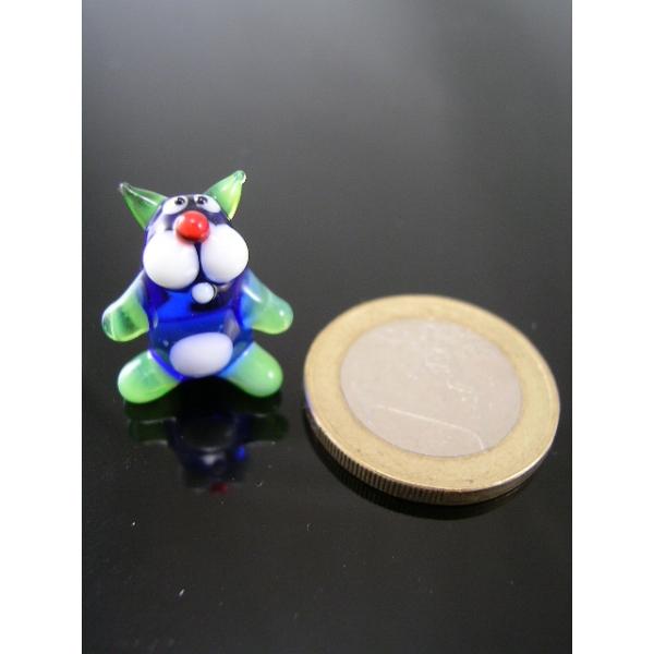 Katze minigrün -Glasfigur -k-7