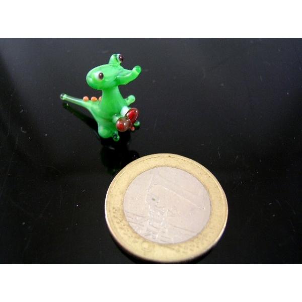 Krokodil mit Herz mini-Glastier-Glasfigur